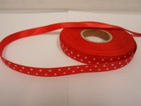 2 or 20 metres x 10mm polka dot satin ribbon